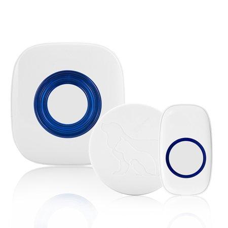 OUTOP Wireless Pet Doorbell Smart Pet Training Door Bell for Dog Cat Reaches 500 Ft Distance, 52 Chime Tunes, 4 Volume Levels, LED - Cat Doorbell
