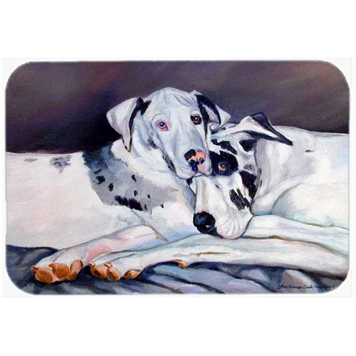 Caroline's Treasures Harlequin Natural Great Danes Kitchen/Bath Mat
