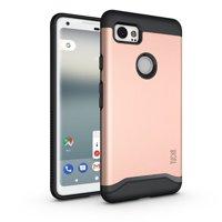 Google Pixel 2 XL Case TUDIA [Merge] Slim-Fit Dual Layer Drop Protection Phone Case for Google Pixel 2 XL - Metallic Slate