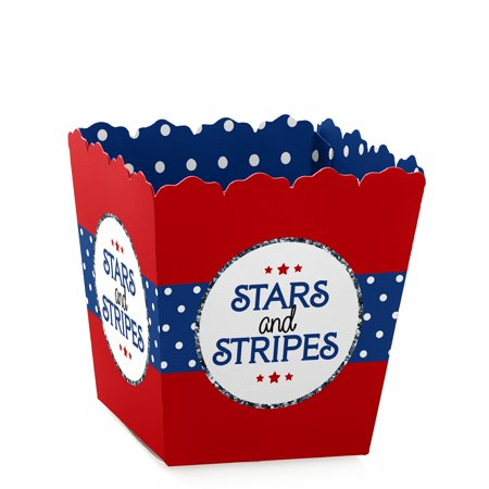 Red, White & Blue - Party Mini Favor Boxes - 4th of July or Independence Day Party Treat Candy Boxes - Set of 12 (4th Of July Party Favors)