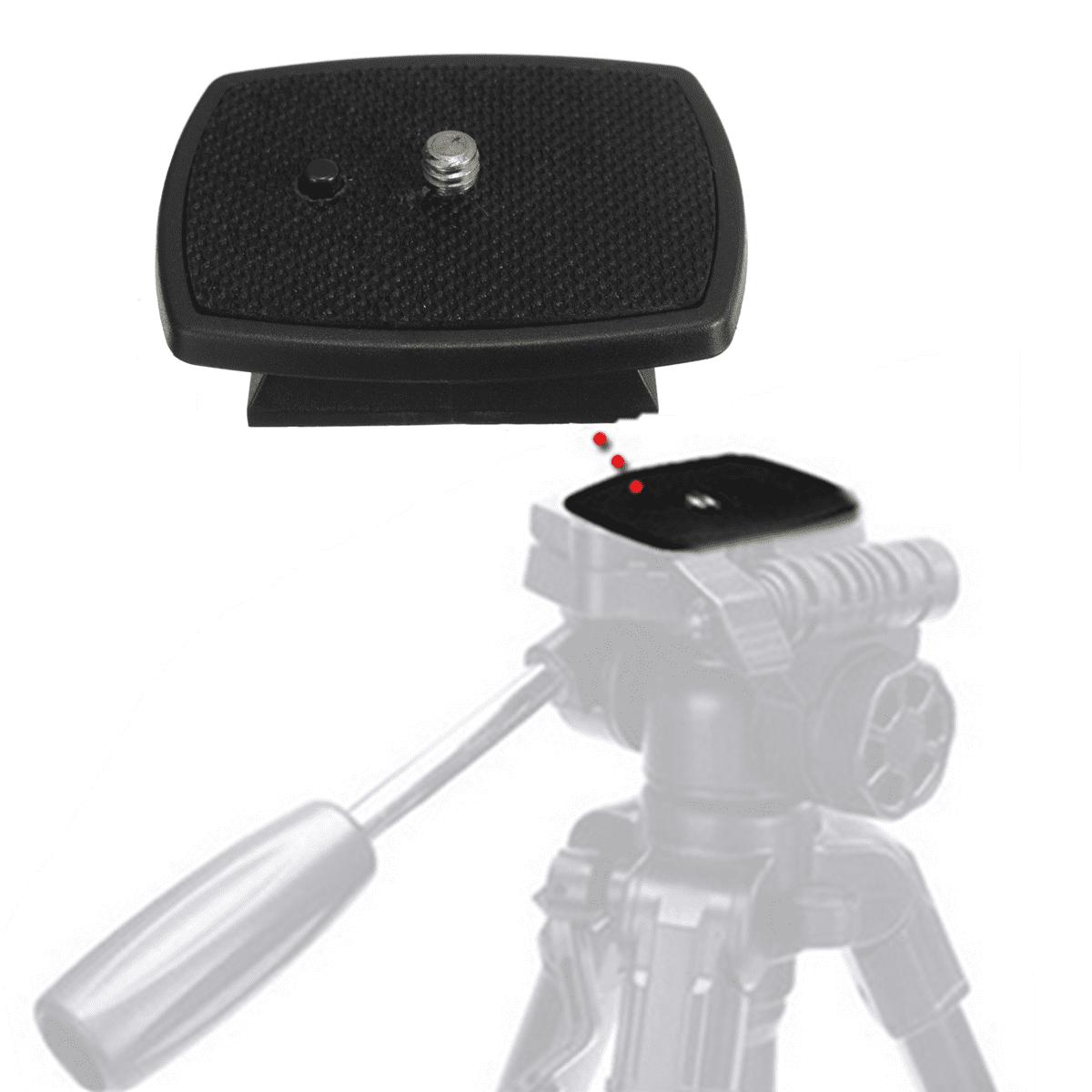 Quick Release Plate Adapter Tripod Mount Head For Canon DSLR SLR Camera - Walmart.com