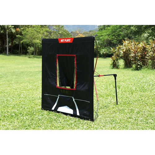 Net Playz 30s Quick Set Up 5ft x 5ft Baseball and Softball Pitching Target Screen Net by Net Playz