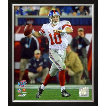 Eli Manning - Super Bowl XLII Framed Photographic Print Wall Art  - 22.5x26.5