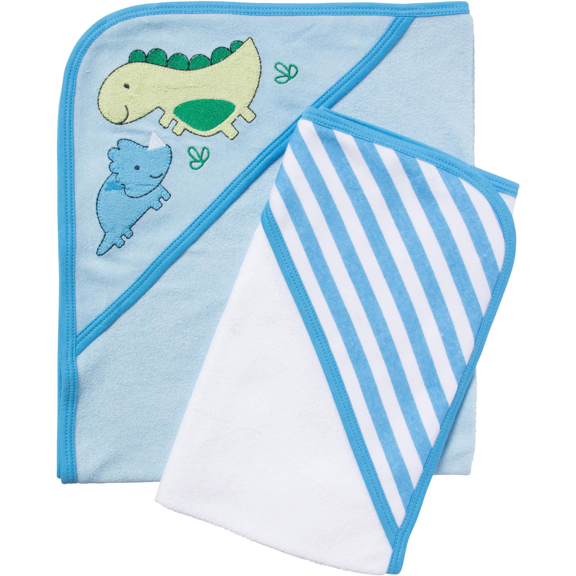 Gerber 2pk Hooded Towels Boy Dino - Walmart.com