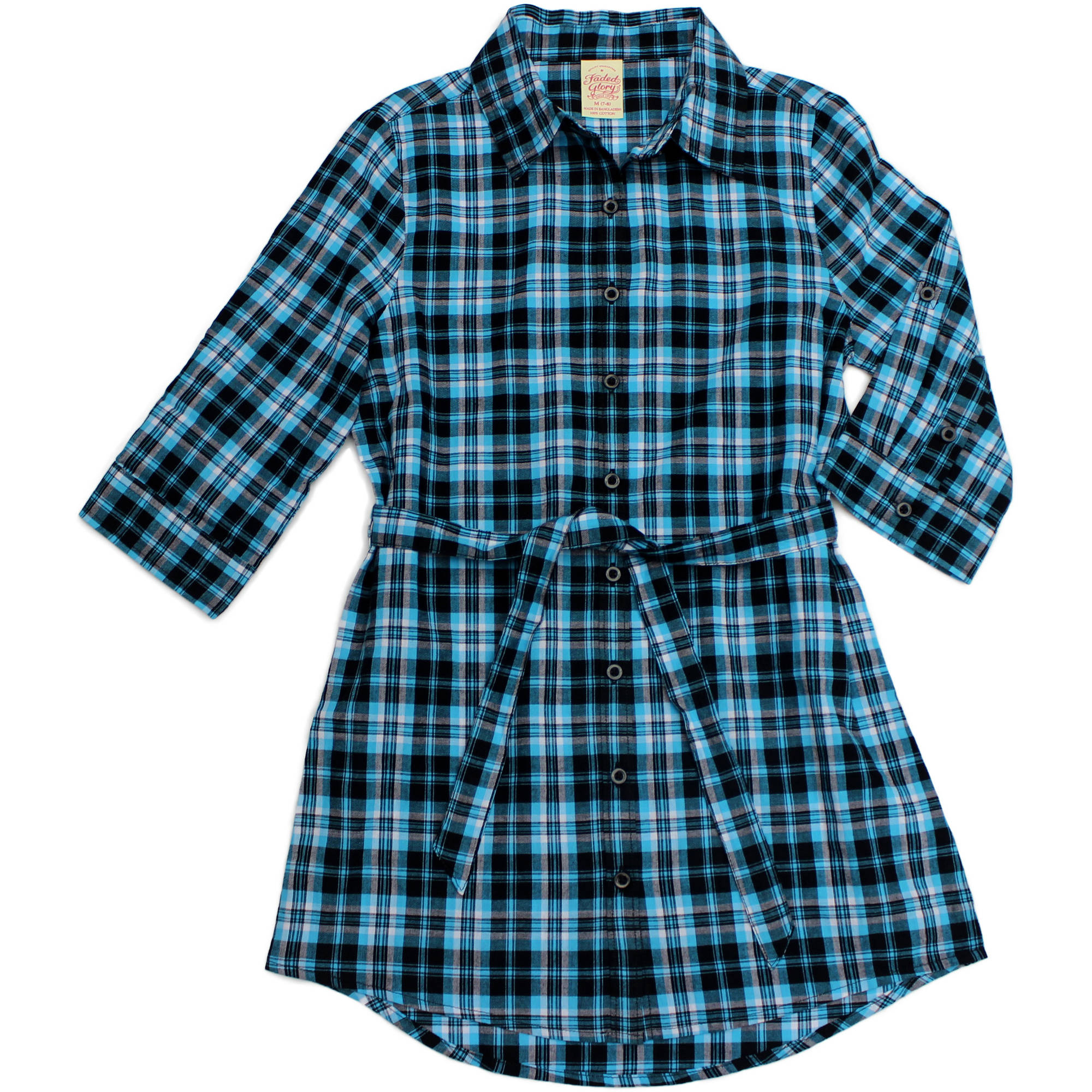 Faded Glory Girls' Plaid Tunic