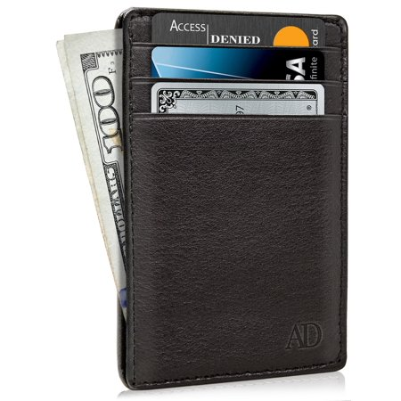 4b21e886fc8a Access Denied - Slim Minimalist Wallets For Men & Women - Genuine Leather  Credit Card Holder Front Pocket RFID Blocking Wallet With Gift Box -  Walmart.com