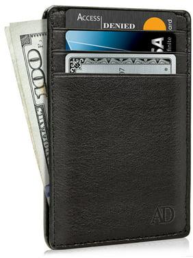 1476634bfbe Product Image Slim Minimalist Wallets For Men   Women - Genuine Leather  Credit Card Holder Front Pocket RFID