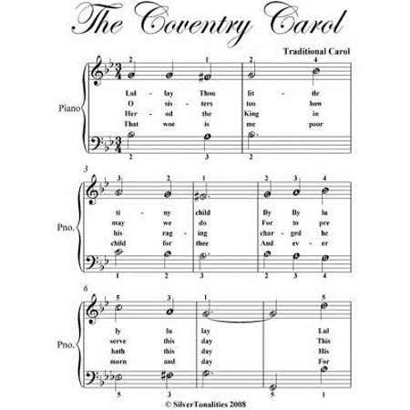 Coventry Carol Easiest Piano Sheet Music - (Coventry Carol Music)