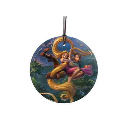 Trend Setters SPCIR903 Thomas Kinkade Tangled Up In Love StarFire Prints Hanging Glass