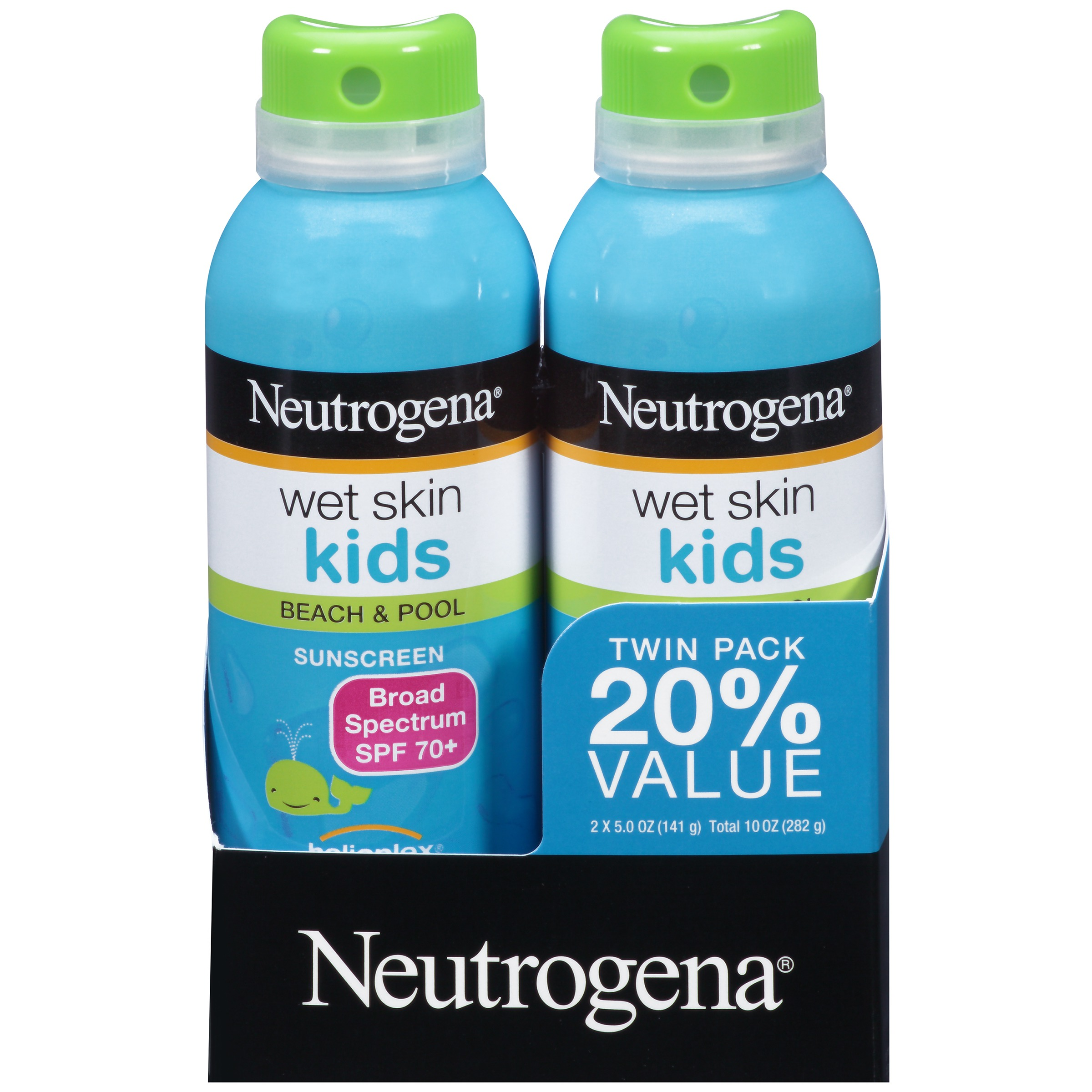 Neutrogena Kids Water-Resistant Sunscreen Spray SPF 70, Oil-Free, 5 oz 2PK