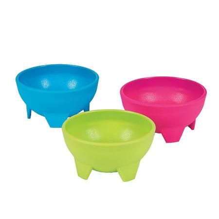 Fun Express - Plastic Guacamole Bowls for Cinco de Mayo - Party Supplies - Serveware & Barware - Misc Serveware & Barware - Cinco de Mayo - 12 Pieces - Cinqo De Mayo