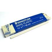 "527-05 Staedtler Mars Eraser Strips 7"" For Electric Erasers, White Package of 12"