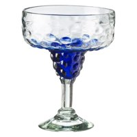 Amici Home Catalina Ombre Hobnail Margarita Glass, Aqua, Set of 4, 15 oz