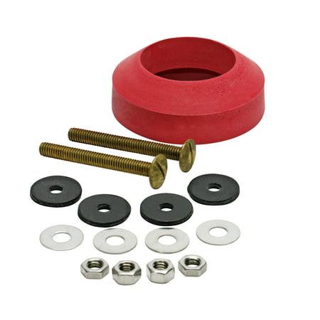 Fluidmaster Bowl Gasket (Fluidmaster® 6102 Universal Tank-To-Bowl Gasket and Hardware, 2 Brass Bolts )