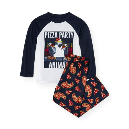 The Children's Place Long sleeve pizza party pajama 2 piece set (little boy & big - 2 Piece Long Sleeved Pajamas