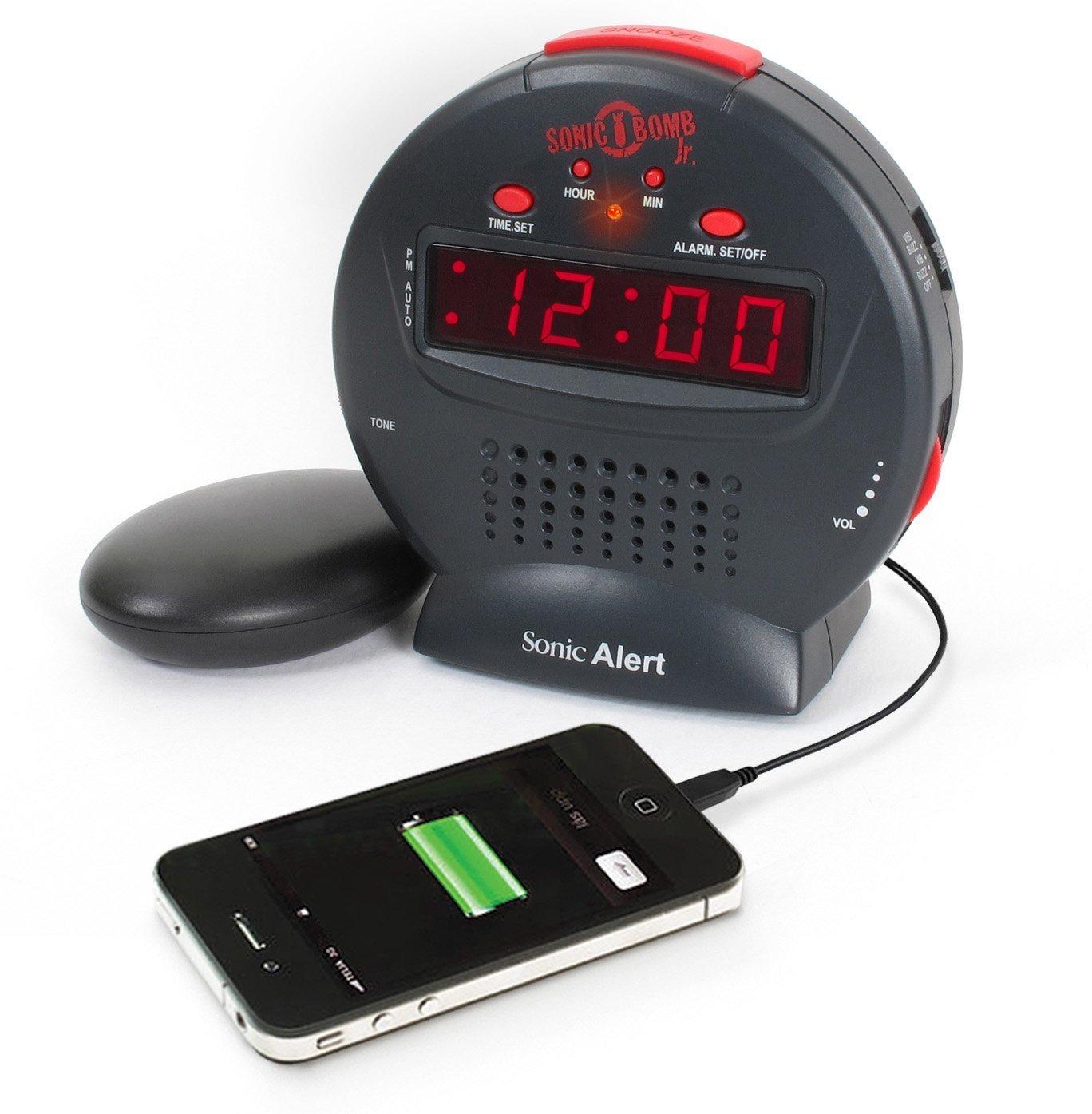 Alarm Clock For Kids, Sonic Bomb Jr Digital Loud Home Small Bedside Alarm Clock