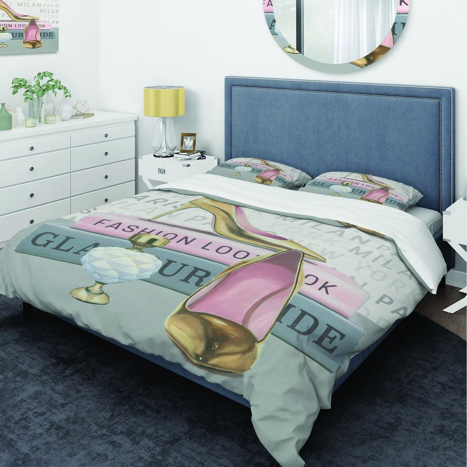DESIGN ART Designart 'Glam fashion High Heels III' Glam Bedding Set - Duvet Cover & Shams