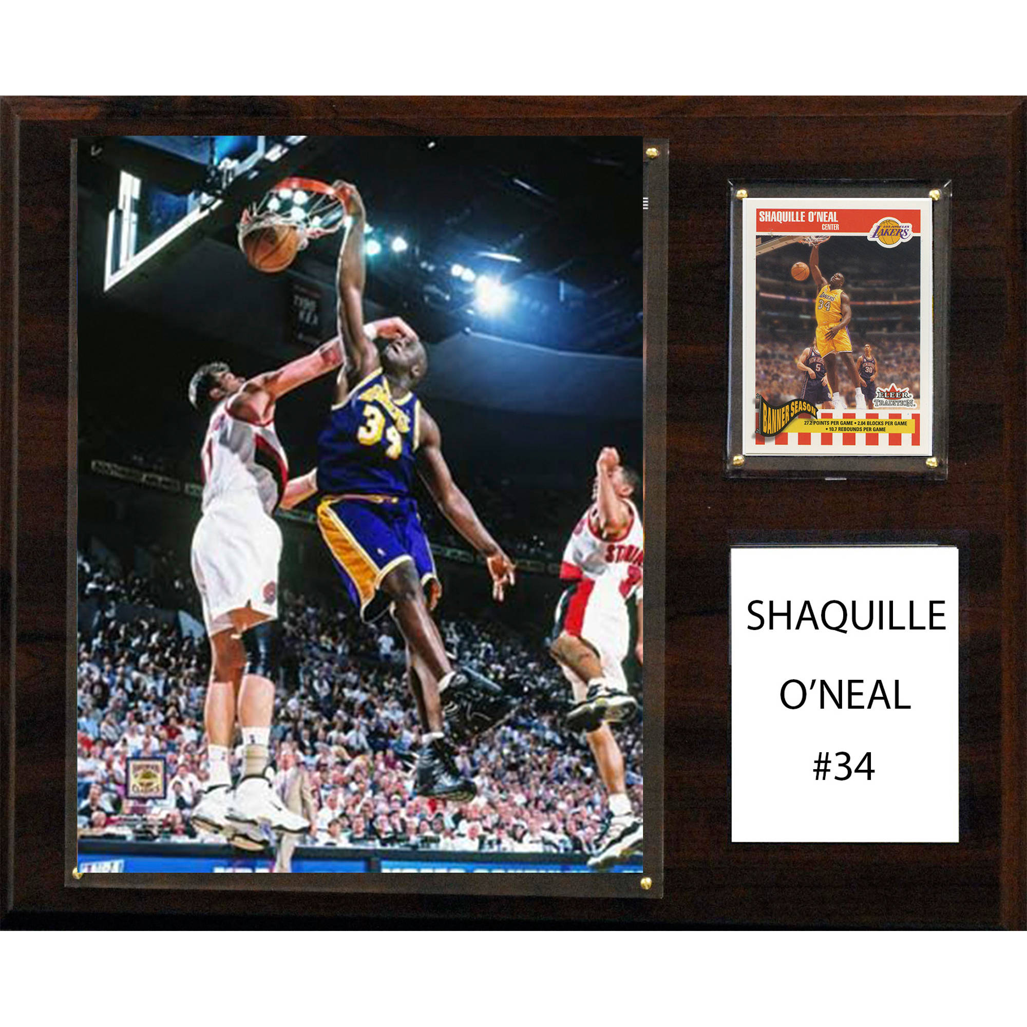 C&I Collectables NBA 12x15 Shaquille O'Neal Los Angeles Lakers Player Plaque