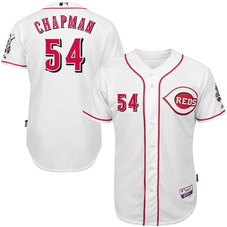 premium selection 3e185 4ca9e Aroldis Chapman Cincinnati Reds Majestic Home 6300 Player ...