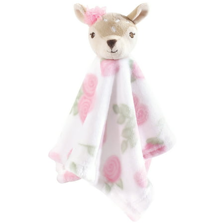 Hudson Baby Boy and Girl Security Blanket, Fawn Chenille Baby Security Blanket