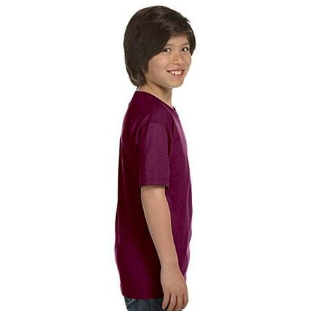 Hanes Boys` TAGLESS , ComfortSoft , Crewneck T-Shirt,Large, Yellow - image 1 of 4