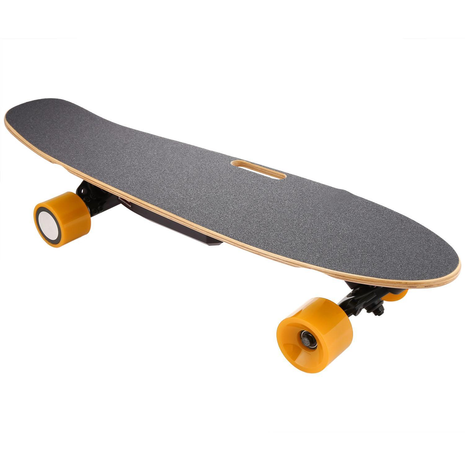 Click here to buy Longboard Electric Skateboard with Wireless Bluetooth Remote Control for Boys Speeds Up to 20 Km H HPPY.