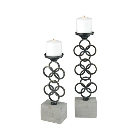 Graphite Brake Disk Set - Pomeroy Indigo Metal And Cememt Candle Holder Set Of 2 In Graphite 571183/S2
