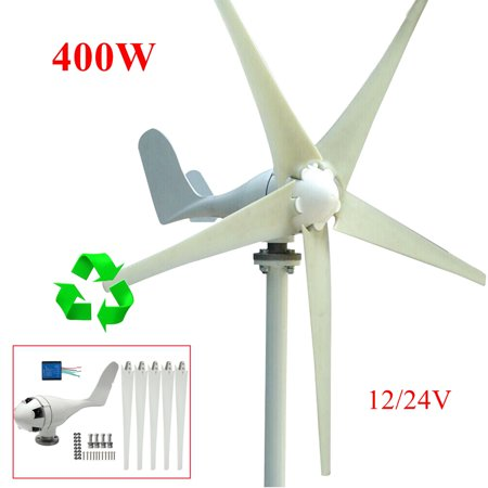 400W 5 Blades Wind Turbine Generator Wind Generator Kit Max Household  Appliances DC 12V/24V Option Aerogenerator
