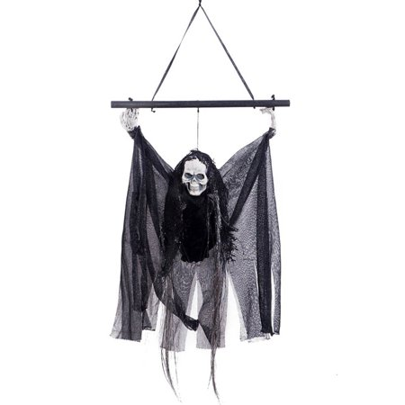 Halloween Sounds Erschrecken (KABOER Halloween Hanging Animated Talking Witch Props Laughing Sound Control Decor Halloween Props)