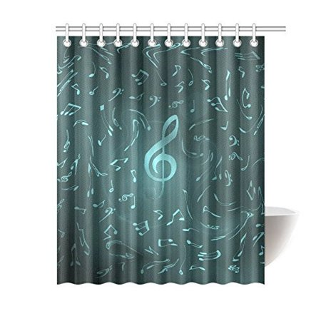BSDHOME Festive Music Notes Bathroom Waterproof Fabric Shower Curtain 60x72 inches - image 1 de 2