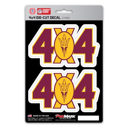 Arizona State Sun Devils 4X4 Team Decal 2-Pack Set - No