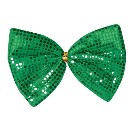 Saint Patrick's Day Jumbo Green Sequin Bowtie Leprechaun Costume Accessory