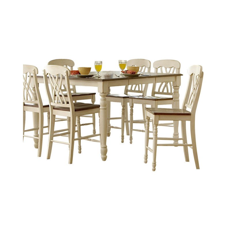 Trent Home Ohana Counter Height Dining Table in White by Homelegance