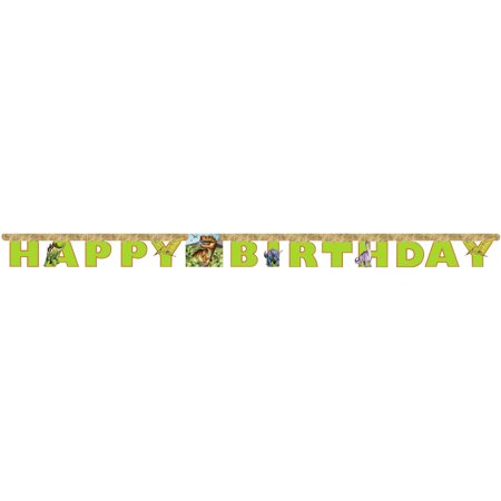 Dino Jointed Banner - Dinosaur Birthday Banner
