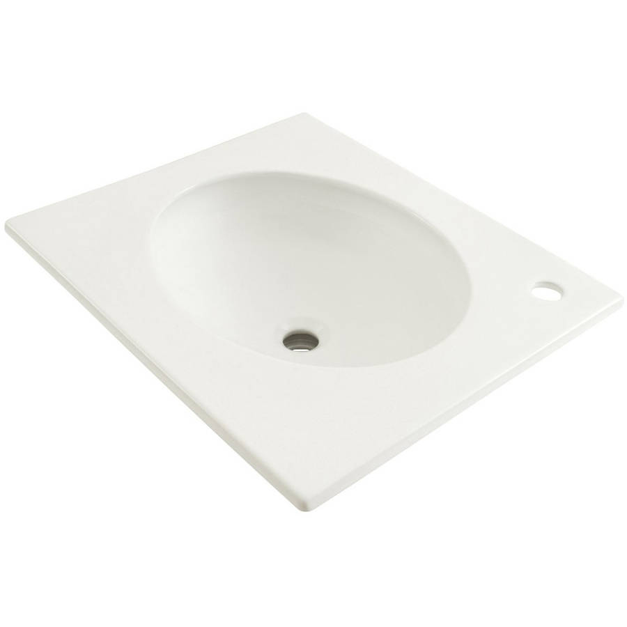 "Toto Curva 22"" Drop In Bathroom Sink with Single Faucet Hole Drilled and Overflow, Available in Various Colors"