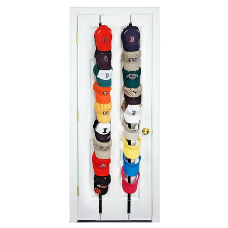 - 2Pcs Baseball Cap Hat Holder Rack Storage Organizer Over the Door Hanger  Holders