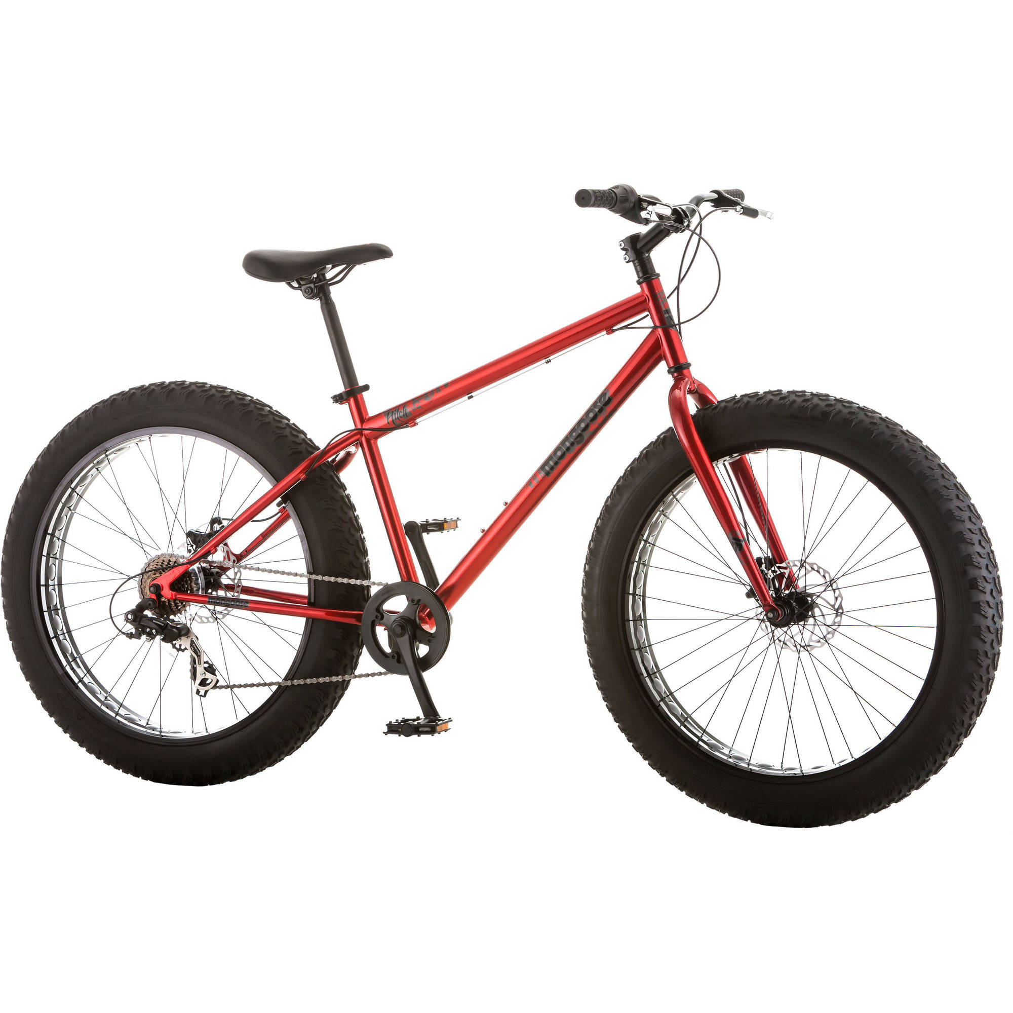 26 Mongoose Hitch Men S All Terrain Fat Tire Bike Red