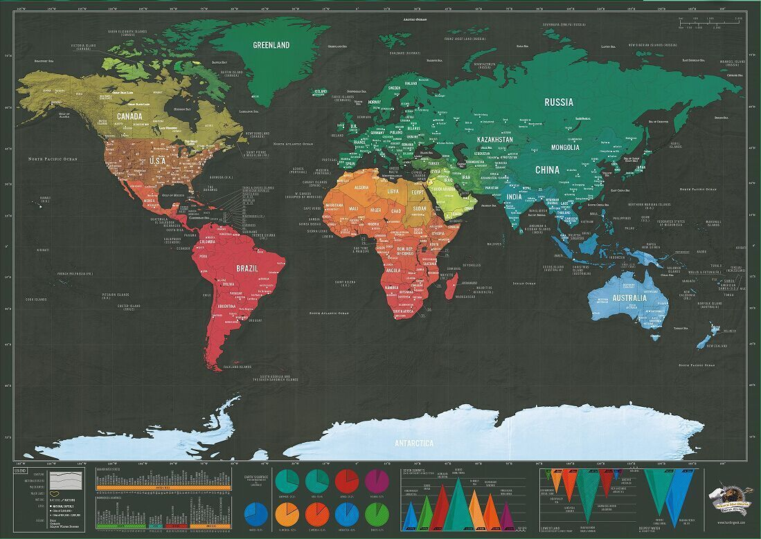 CN/_ TRAVEL EDITION SCRATCH OFF WORLD MAP POSTER PERSONALIZED JOURNAL LOG GIFT