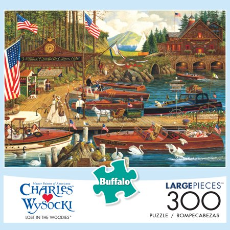 Buffalo Games Charles Wysocki Lost in the Woodies 300 Piece Jigsaw Puzzle