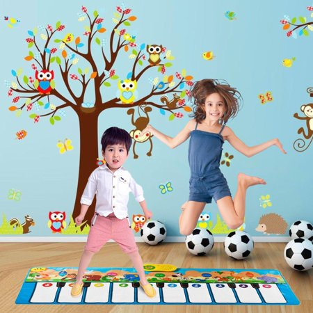 Jumbo Sized Animal Carnival Musical Playmat, 3 Modes to Play, 10 Cheerful Childrens Songs, 10 Flashing LED Lights, and 10 Large Piano Touch Sensitive Keys by Dimple](Gigantic Keyboard Playmat Reviews)