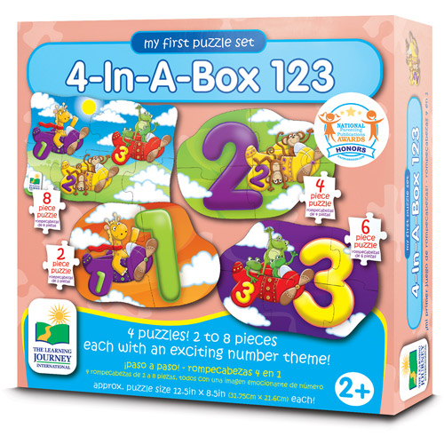 The Learning Journey My First Puzzle Set, 4-in-a-Box, 123