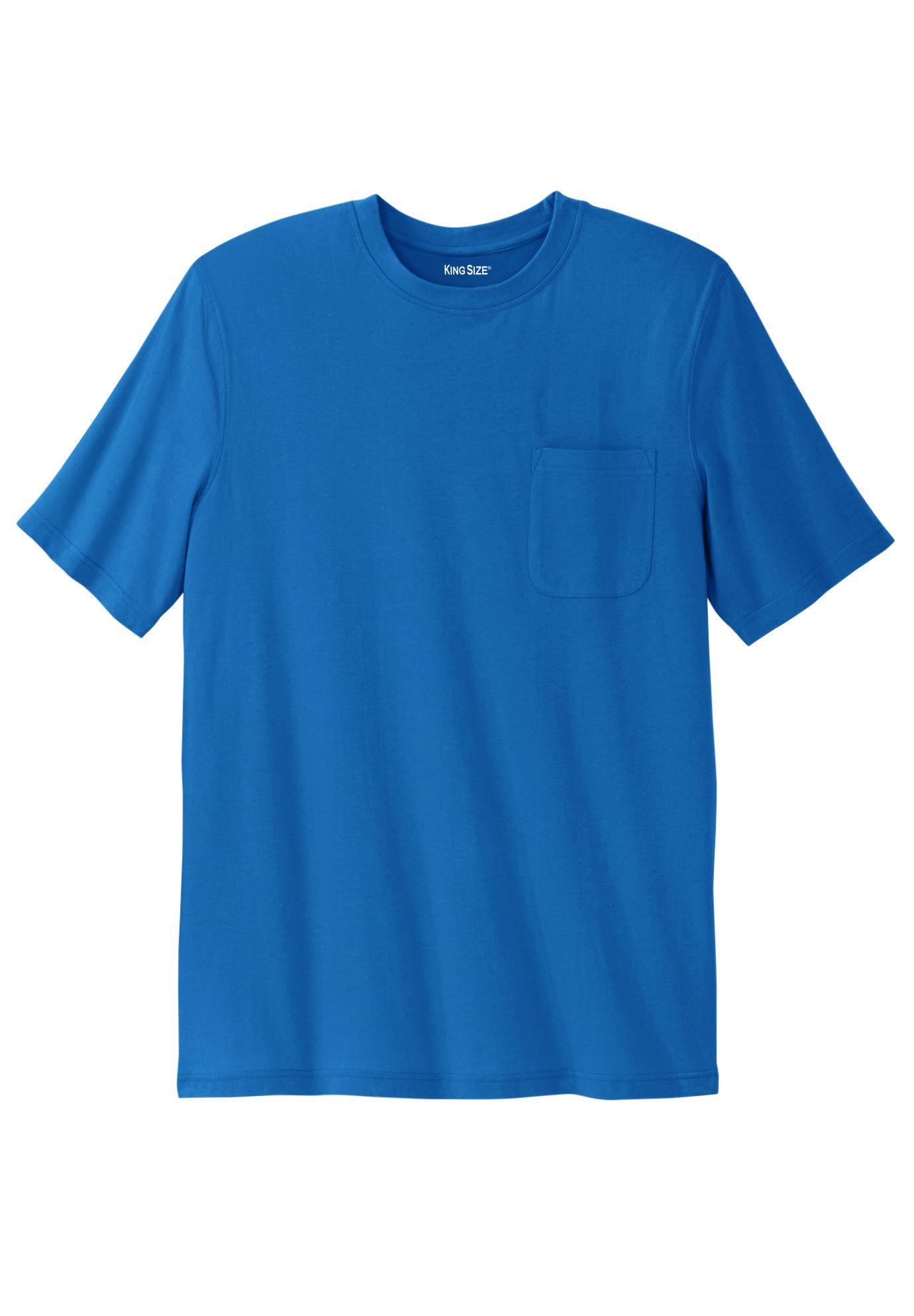 Kingsize Men's Big & Tall Lightweight Pocket Crewneck T-shirt
