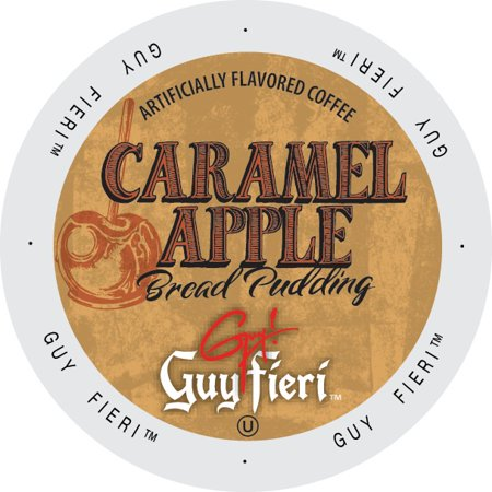 Guy Fieri Coffee Caramel Apple Bread Pudding, Single Serve Cup Portion Pack for Keurig K-Cup Brewers, 24 - Caramel Apple Ideas