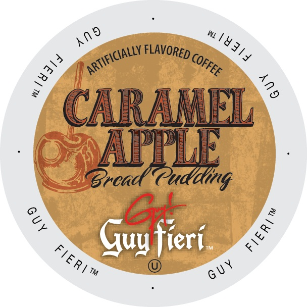 Guy Fieri Coffee Caramel Apple Bread Pudding, Single Serve Cup Portion Pack for Keurig K-Cup Brewers, 96 Count