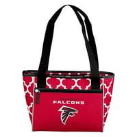 Atlanta Falcons Quatrefoil 16 Can Cooler Tote