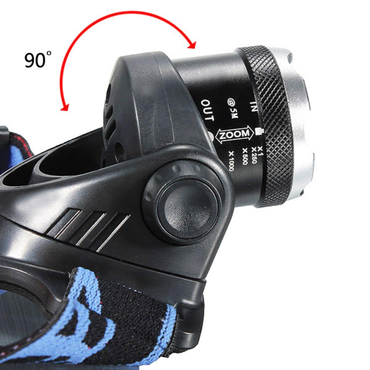 Elfeland T6 Led 3000 Lumen Zoomable Rechargeable Headlamp Headlight