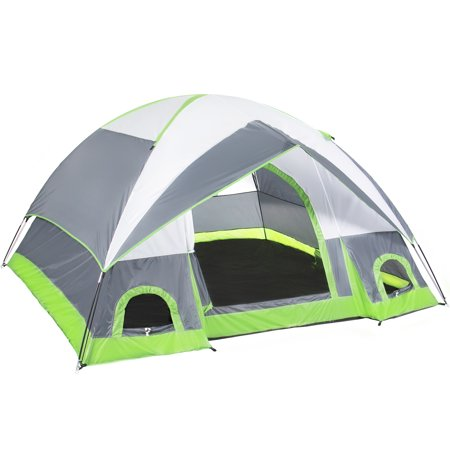 Best Choice Products 4 Person Camping Tent Family Outdoor Sleeping Dome Water Resistant W/ Carry Bag