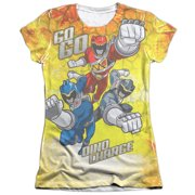 Mighty Morphin Power Rangers Go Go Dino Charge Juniors Sublimation Shirt