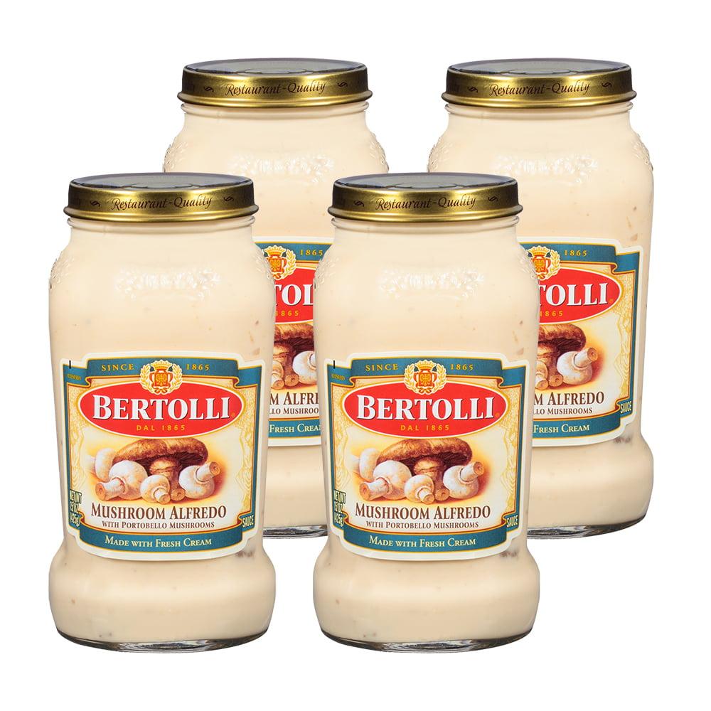 (2 pack) Bertolli Mushroom Alfredo with Portobello Mushrooms Pasta Sauce 15 oz.