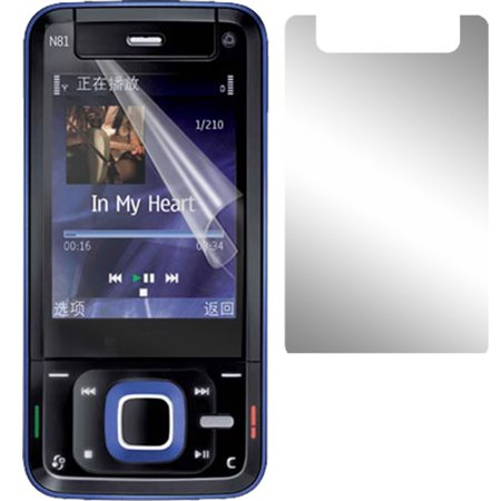 Clear LCD Screen Guard Protective Film for Nokia N81